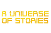 A Universe of Stories in yellow text to represent summer reading programs offered by the state library