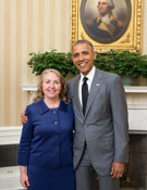 Kathy Thirkell and President Obama - 2015
