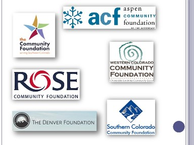 graphic showing logos of community foundation funding sources