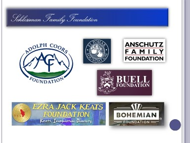 graphic showing logos of private foundation funding sources