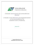 Picture of Accommodations Manual 2014-2015