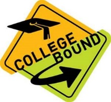 Traffic Sign with Words College Bound