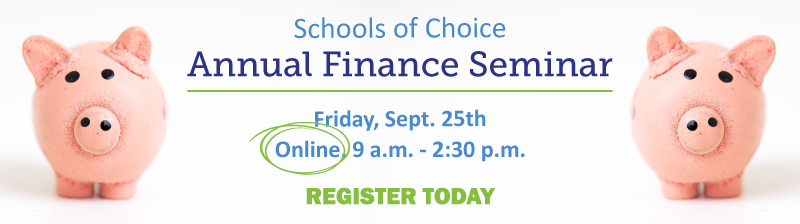 You're invited to the 2020 Annual Finance Seminar on Friday, September 25th. Click here to register.